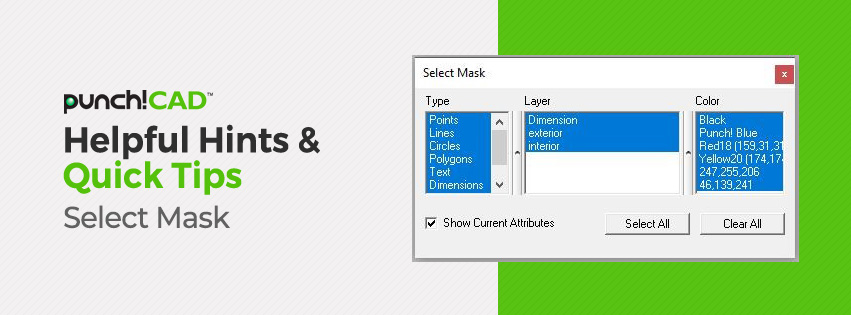 Helpful Hints & Quick Tips Select Mask
