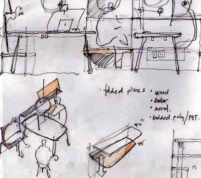 Graham Design work place sketch